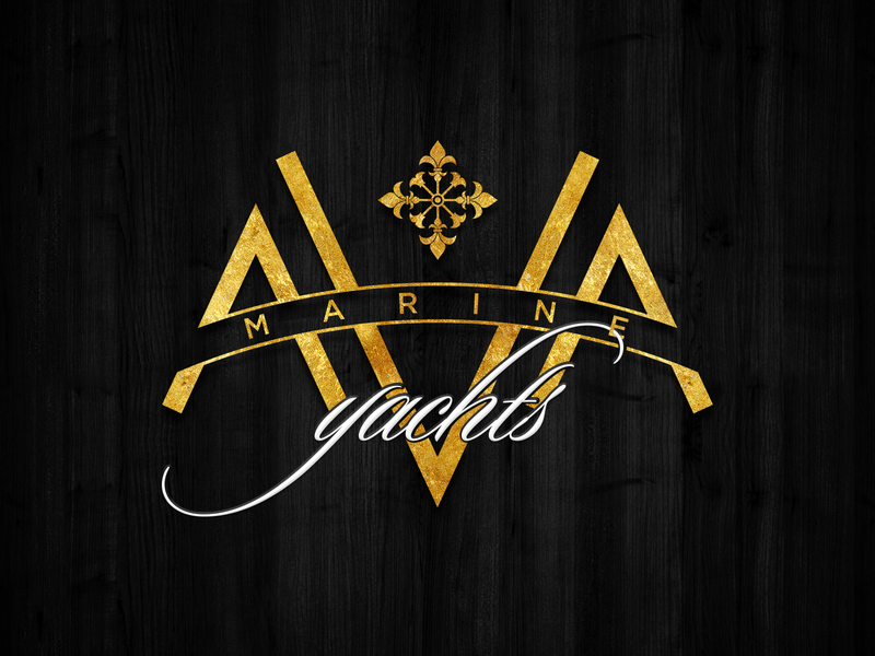 Ava Marine Yachts — Logo service reseller branding logo marine yacht company yachting yacht club yachts yacht