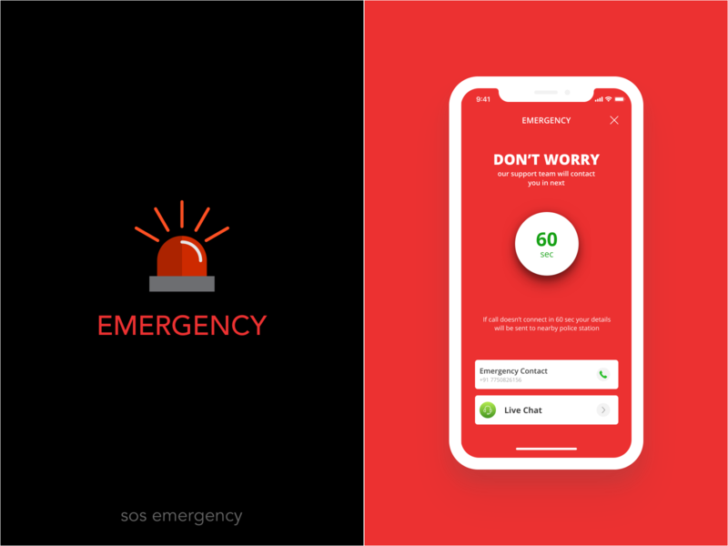 SOS Emergency alert emergency sos app mobility design cities commuting carpooling mobile uxdesign uidesign product design