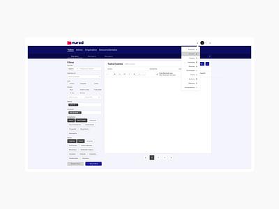 Nurad - User Interface Default layout design ux ui desktop