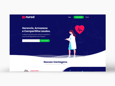 Landing Page - Nurad landing page medical ui design desktop layout