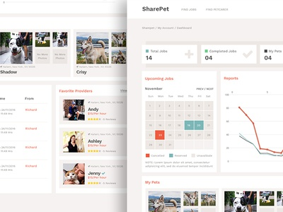 Sharepet Dashboard Design