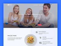 Online Food Ordering Landing Page Concept