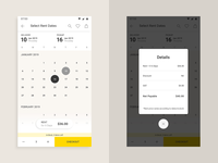 Yorent App Calendar Screen