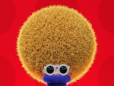Hair design c4d redshift3d 3d