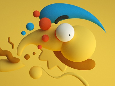 Millhouse design shapes abstract 3d millhouse the simpsons