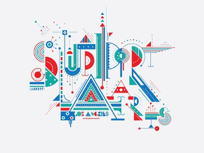 Support The Arts shapes vector lettering design illustrated typography illustration typography support the arts