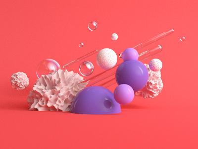 Coral cinema4d c4d octane balls sphere circle 3d coral