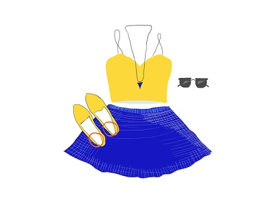 Outfit dress clothes drawing fashion illustration outfit
