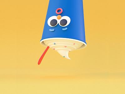Dairy Queen 'Frozen' character milkshake ice  cream redshift c4d 3d