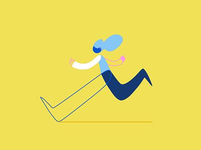 Runner character illustration vector running