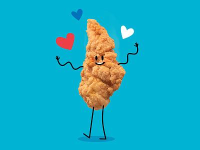 Chicken Tender character doodle chicken food
