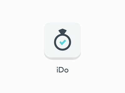 iDo app icon ido wedding app icon icon wedding ring ring diamond todo simple flat white avenir