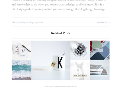 Related Posts blog minimal photos grid tags comments copyright related posts related blogpost white clean