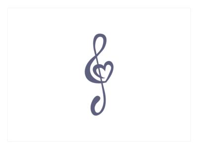 Choir Logo logo music brand music score music note branding heart love hearts choir minimal