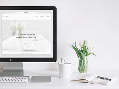 website kimwouters.com website portfolio responsive responsive web design simple simplify simplicity minimalism minimalist design white workspace