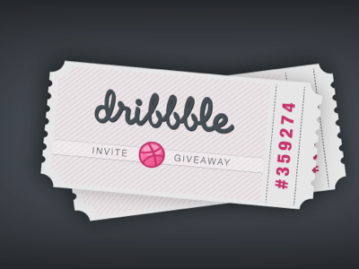 Dribbble ticket ticket dribbble invite giveaway