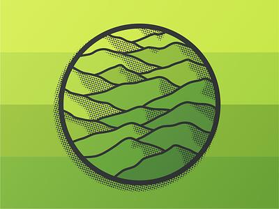 Explore by Land gradient green illustration icon smokies mountains wander explore