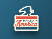 Mailed In America Lapel Pin