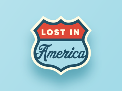 Lost In America II Lapel Pin