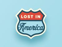 Lost In America II Lapel Pin