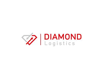 Diamond Logistics logotype luxury diamond road transport logistics