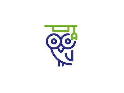 Owl logo icon wisdom knowledge animal