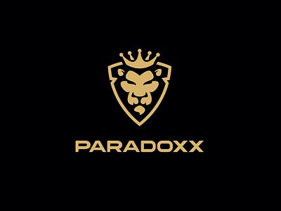 Paradoxx logotype clothings nature wild logo branding paradoxx animal lion