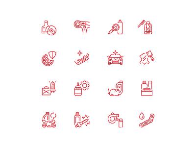 Car detailing Icons detailing icons car