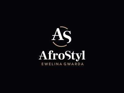 AfroStyl logotype woman beauty salon hairdresser afro