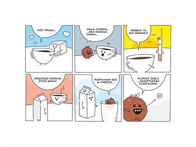 Coffee & Cookie Illustration character comicsart firsttime fresh illustration cookie comics