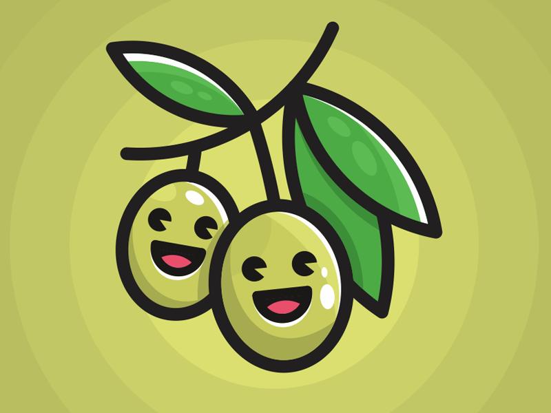Happy Olives illustration minimal vegetables vege olives
