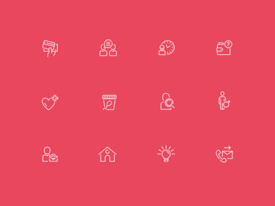 Fertility clinic icons