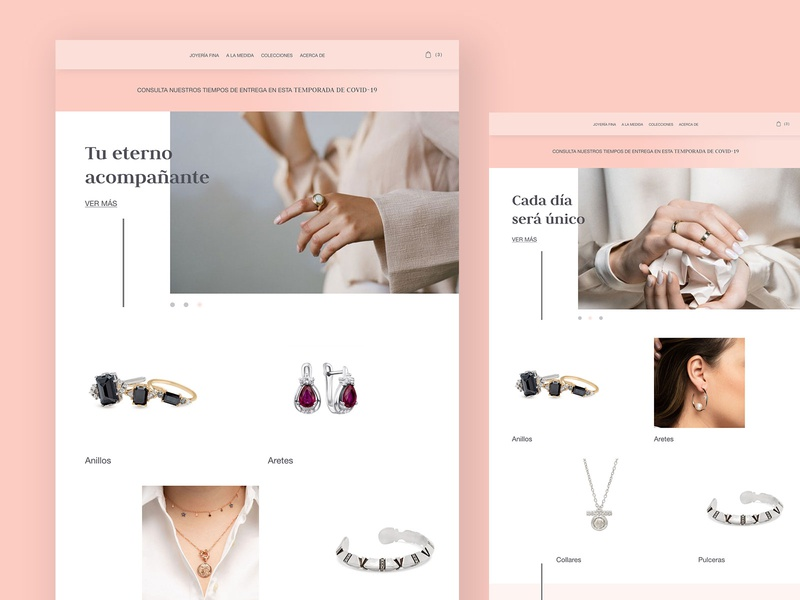 kalila mockup website eco jewellery jewelry website design website design ux ui web design webdesign web