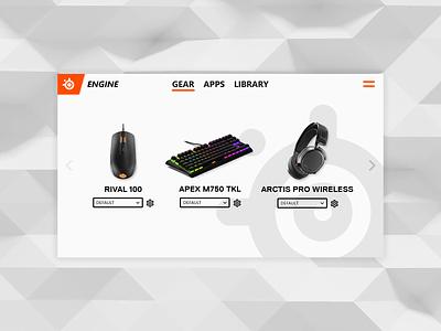 SteelSeries Engine redesign redesign ui app steelseries