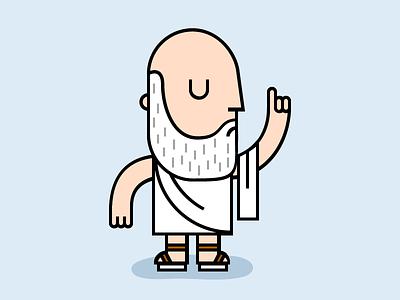 Socrate philosopher old talk socrate illustration