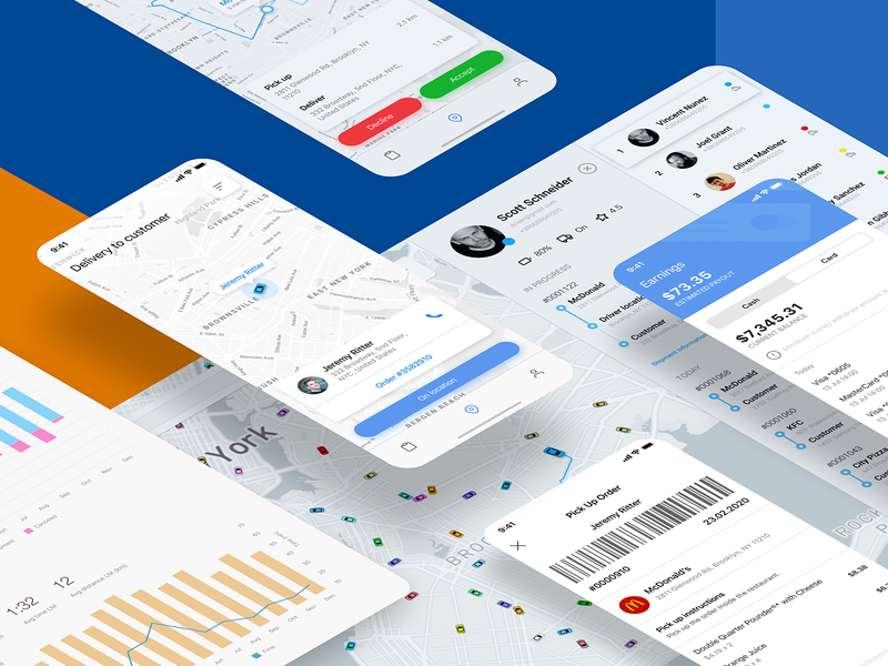 CRM for Logistics company delivery dashboard design web app dashboard app mobile app logistics dashboad ux ui