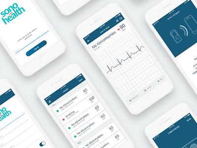 medical app UI ux branding medical app bluetooth ecg app ui
