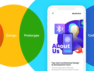 devforfun website mobile version ux ui design ux flow design illustration ui