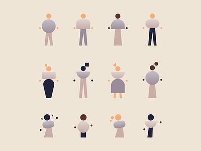 Minimal People Illustration Pack minimal web web designer web design ui concept art concept illustration illustration pack concept