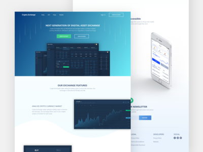 Cryptocurrency Exchange Landing Page bitcoin cryptocurrency landing page