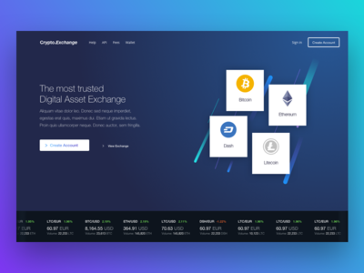 Crypto Currency Exchange Landing Page