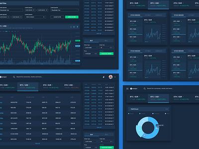 Cryptocurrency Exchange cryptocurrency exchange bitcoin exchange graph web dark minimal material design
