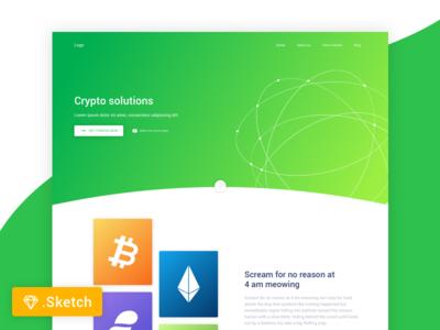Crypto Landing page freebie