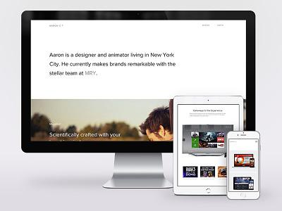 Portfolio 2016 web design realign semplice designer personal design portfolio website