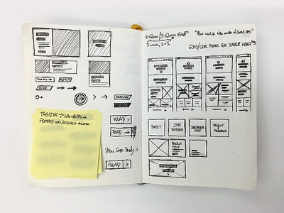 Pen to paper confidant baron fig web design redesign wireframe sketch