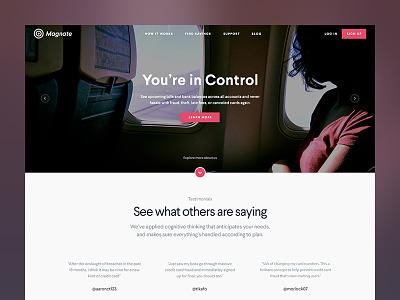 Magnate mockup page layout website web home landing simple