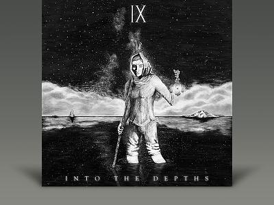 Into the Depths by IX skeleton white black hermit music ix dark metalcore metal album cover hardcore