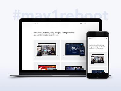 Portfolio Update website web design semplice realign portfolio personal designer design redesign may1reboot