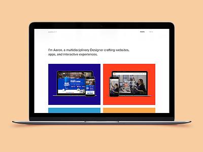 New Work Page Live visual product designer case study semplice work website portfolio landing page freelancer designer