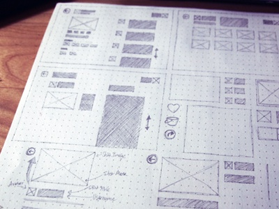 Dot Grid app mockup wireframe sketch windows 8 windows phone